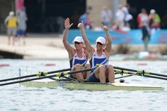 Team GB, Katherine Grainger and Anna Watkins smashed an Olympic record for women's double scull by nearly 5 seconds