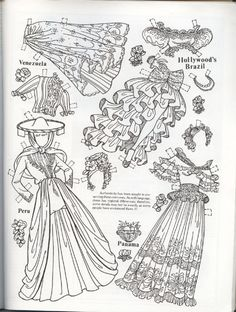 LOVELY LATIN PAPER DOLL BLACK and WHITE | Doll Reader Magazine June/July 1983 | by CHARLES VENTURA