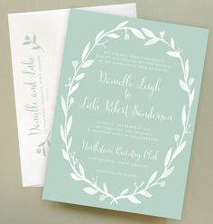 Any Color Chalkboard Wedding Invitation with by Leveret Paperie