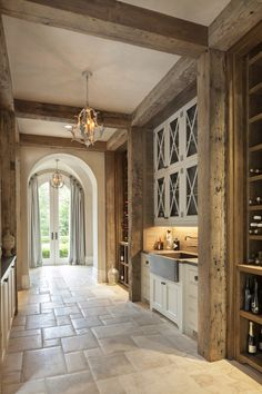 Architect Portfolio by Harrison Design - Dering Hall Steel Frame Doors, Harrison Design, French Style Homes, French Country House, French Farmhouse, Wood Beams, Interiores Design, My Dream Home, Home Interior Design