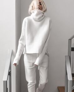 Brief High Collar Long Sleeve Pure Colour Loose Sweater - Kleidung - Sweaters Mode Outfits, Fashion Outfits, Womens Fashion, Fashion Clothes, Fashion Ideas, 20s Outfits, Fashion Tips, Summer Outfits, Fashion Trends