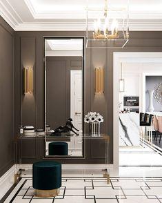 Luxury interiors in 2019 bedroom decor, entryway lighting, decor interior d Luxury Homes Interior, Home Interior Design, Interior Decorating, Bungalow Haus Design, House Design, Design Typography, Entrance Design, Modern Entrance, Floor Design