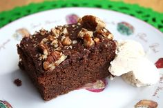 "This links to a site of fantastic recipes from "" Linzers in London"" Mexican Brownies"