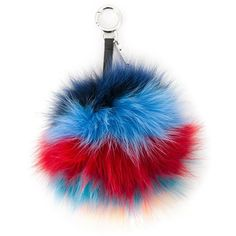 28bc392d75f Fendi rainbow pom-pom bag charm (€485) ❤ liked on Polyvore featuring  accessories