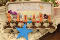 Herb Garden for Kids Supplies: Newspaper Herb Seeds Cardboard Egg Carton or whole is fine) Sewing needle Decorations . Garden Crafts For Kids, Projects For Kids, Preschool Garden, Preschool Science, Girl Scout Activities, Activities For Kids, Herb Garden Design, Garden Art, Daisy Girl Scouts