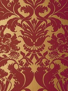 Paro Damask Metallic Gold On Red T89142 Collection Resource 4 From Thibaut Fabrics Patterns Pinterest Damasks