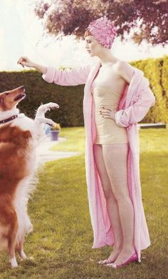 Title: Hollywoodland Magazine: Vogue US March 2008 Models: Karen Elson, Casey Affleck Photographer: Mario Testino Stylist: Grace Coddington Karen Elson, Mario Testino, Fashion Shoot, Editorial Fashion, Dog Fashion, Vogue Editorial, Daily Fashion, Grace Coddington, No Kill Animal Shelter