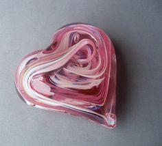 $20, Etsy.com, Hand Blown Art Glass Heart Paperweight