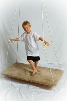 The Glider Swing - Useful in the development of a child's vestibular system and its repetitive motion is calming. It moves in a linear motion rather than a full 306 degrees, giving a similar sensation to that of being in a rocking chair.