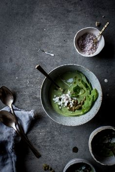 Local Milk | chilled avocado + arugula soup