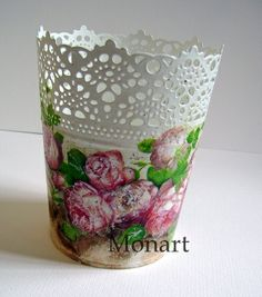 Old victorian roses...decoupage.