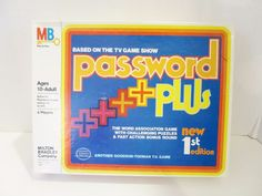 Password Plus Game New 1st Edition Milton Bradley 1978  #MiltonBradley