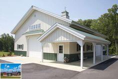 Morton Buildings hobby garage in North Carolina. Morton Buildings hobby garage in North Carolina. Pole Barn Garage, Pole Barn Homes, Pole Barns, Rv Garage, Garage Ideas, Garage Plans, Steel Garage, Dream Garage, Pole Buildings