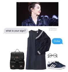 """i just want you to love me"" by lovelykaisoo ❤ liked on Polyvore featuring Toast, adidas Originals, Sole Society and Retrò"