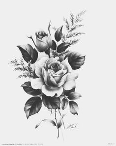 Black and white style tattoo: