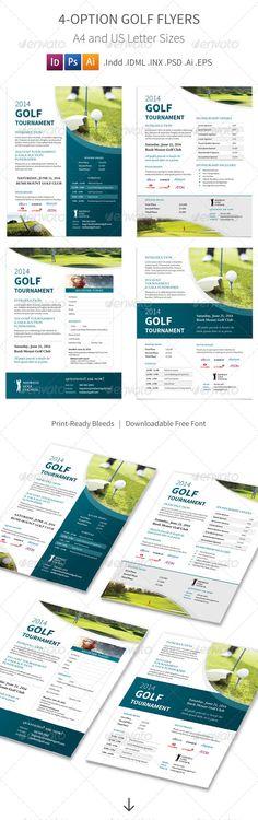 Golf Tournament Flyers – 4 Options #graphicriver