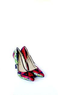 BASSA African Pointy Toe Pumps