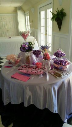 Sophia the First Candy Buffet