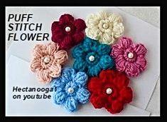 Puff Stitch Flower