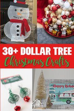 30+ DIY Dollar Tree Christmas Decor, Crafts and More