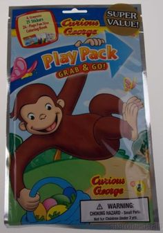 take away favors for curious george 1st birthday partycurious george coloring book and crayons events by me pinterest curious george - Curious George Coloring Book In Bulk