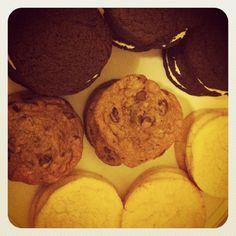 Oreos, chocolate chip toffee and lemon sugar cookies.