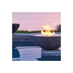 Ecosmart Mix Fire Bowl - Natural, Large (€1.815) ❤ liked on Polyvore featuring home, outdoors, outdoor decor, outdoor garden decor, outside fire pit, fire bowl, outdoor fire pit and outdoor patio decor