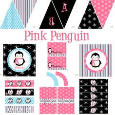Penguin Party Favors | Penguin Party Decorations for Birthday or Baby Shower - DIY Printable ...