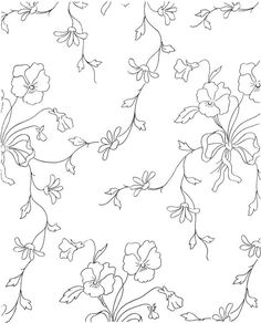 Flower Coloring Page for adults. These will make great embroidery projects!