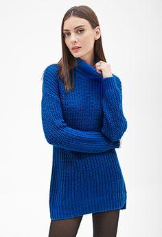 Longline Turtleneck Sweater | FOREVER 21 - 2000137031