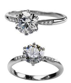 Lucie Campbell platinum & diamond engagement ring