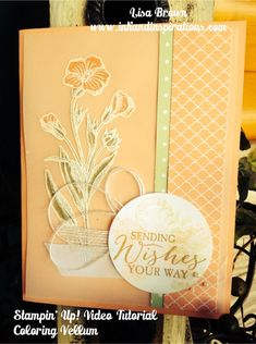 Stampin' Up! Butterfly Basics Card and Vellum Technique