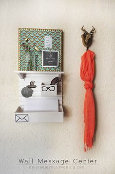 How to simply update a Wall Message Center in your home! Delineateyourdwelling.com