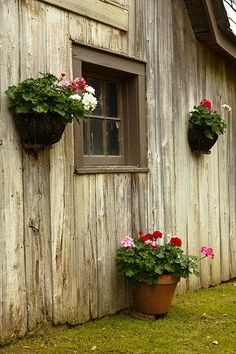 Good idea; decorate the side of your barn to make your property look pretty.