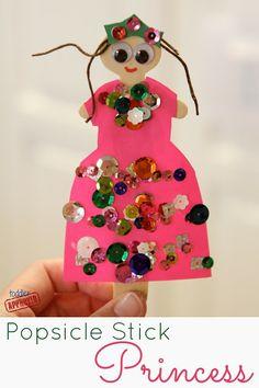 Stick Princess Craft {Mom and Tot Craft Time} Toddler Approved!: Popsicle Stick Princess Craft {Mom and Tot Craft Time}Toddler Approved!: Popsicle Stick Princess Craft {Mom and Tot Craft Time} Princess Crafts, Princess Art, Princess Birthday, Princess Activities, Popsicle Stick Crafts, Popsicle Sticks, Craft Stick Crafts, Craft Sticks, Toddler Crafts