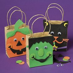 Quick and Simple Kids Halloween Bags Craft  Family Holiday