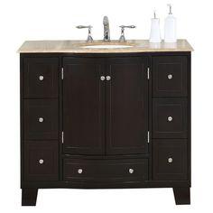 Custom Bathroom Vanities Richmond Va studio bathe kelly 42 inch espresso finish bathroom vanity