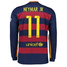 c3ef1116b2b Barcelona Home 2015 16 Long Sleeve Jersey with Neymar 11 - Size Large Fc  Barcelona