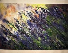 Watercolour painting on 210 g/m paper.Defined by acrylic paint and white ink. Watercolour Painting, Watercolor Flowers, White Ink, Lavender, Behance, Paintings, Gallery, Check, Art