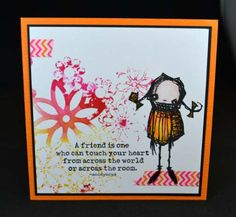 Artwork created by Nellie van Leeuwen using rubber stamps designed by Daniel Torrente for Stampotique Originals
