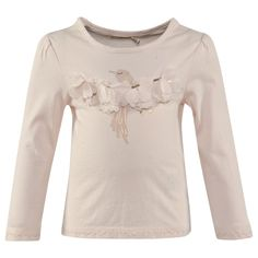 From Billieblush, this pale pink long sleeve tee is a girly design that is perfect for layering with tutu skirts for birthday part