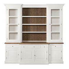 CABINET BOOKSHELF BIRMINGHAM OFF WHITE OAK IN O/W ROFRA Home meubelen en interieur accessoires