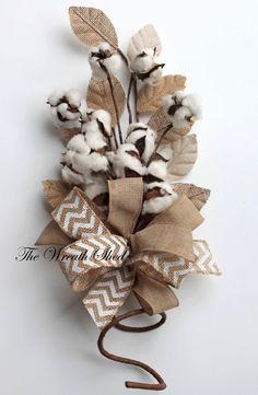 Cotton Boll Bouquet, Raw Cotton Bolls, 2nd Anniversary Gift, Cotton Anniversary Bouquet, Bridal Bouquets, Wedding Decor, Burlap Decorations