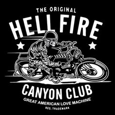 Biker Gang Style? A clean hipster take on the aesthetic. Although not very inspired, the bold condensed font is strong and masculine making it a decent choice.