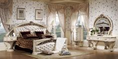 Beds For Sale, Traditional Wood Bed Frames, Beds Online In India Mattress Couch, Couch And Loveseat, Air Mattress, Bedroom Color Schemes, Bedroom Colors, Bedroom Decor, Baroque Bedroom, Master Bedroom, Deco Baroque