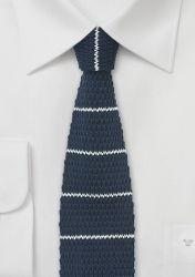 Strick-Krawatte nachtblau weiß günstig kaufen