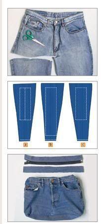 Bolsa Jeans Passo a Passo