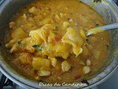 Receita de Bobó (camarão ou frango)