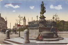 Foto Ansichtspostkarte Leipzig mit dem Mägdebrunnen Germany And Prussia, Old Photographs, Paris, Krakow, Dresden, Statue Of Liberty, Poland, Gothic, Poster