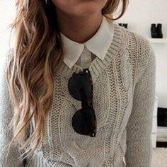 knit sweater beige